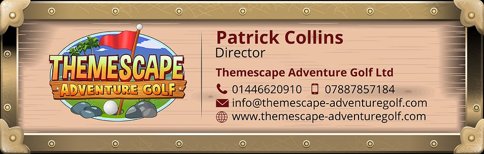 patrick collins themescape adventure golf ltd