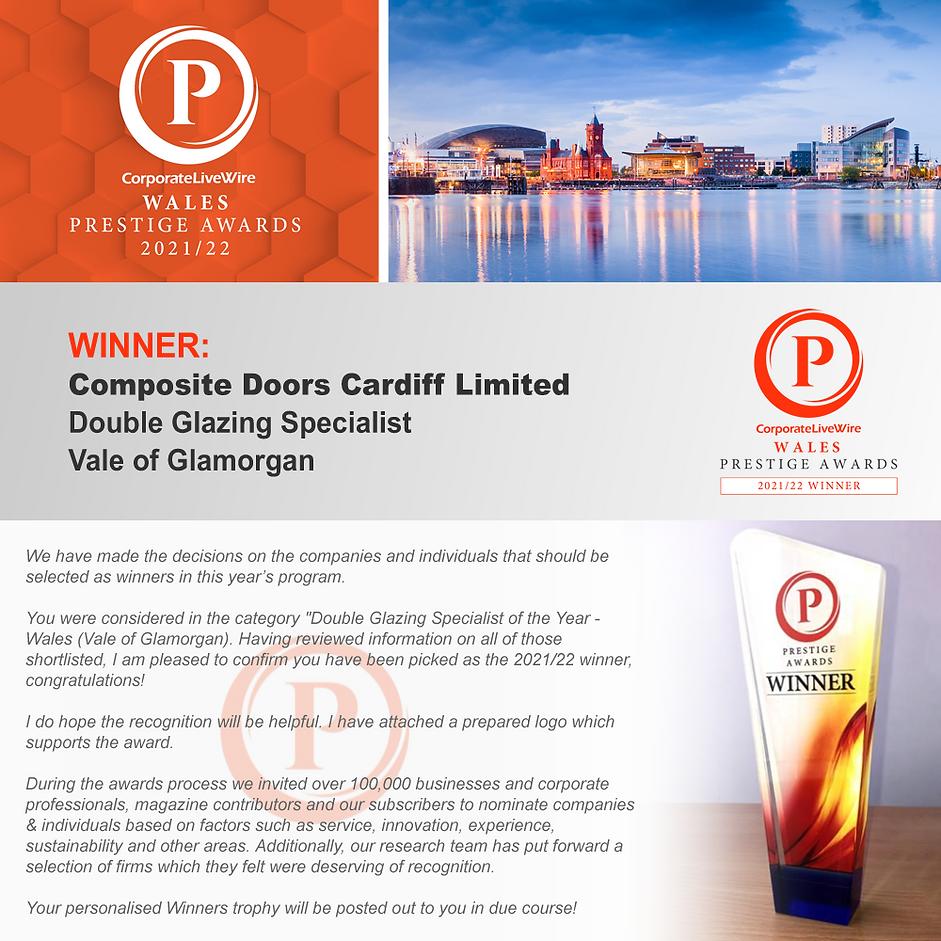 Wales Prestige Award