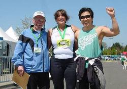 Eugene Marathon finish line