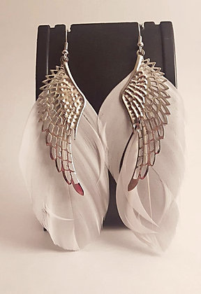 Wing and Feather Earrings