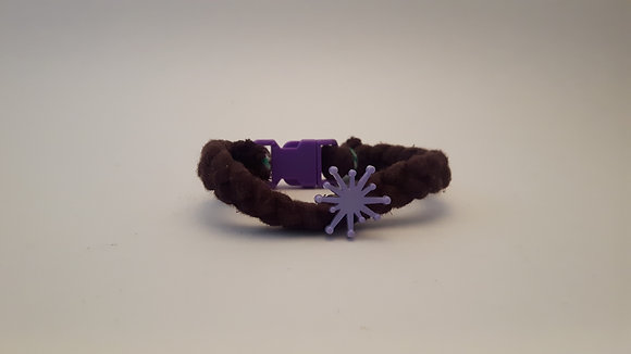 Braided Brown and Purple Bracelet