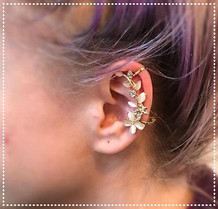 Flowered Ear Cuff