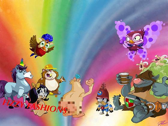 Peggle 2 Rainbow Art Print