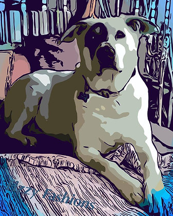 Dog In Library Art Print