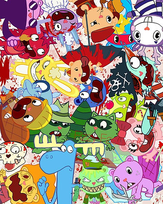 Happy Tree Friends Artwork