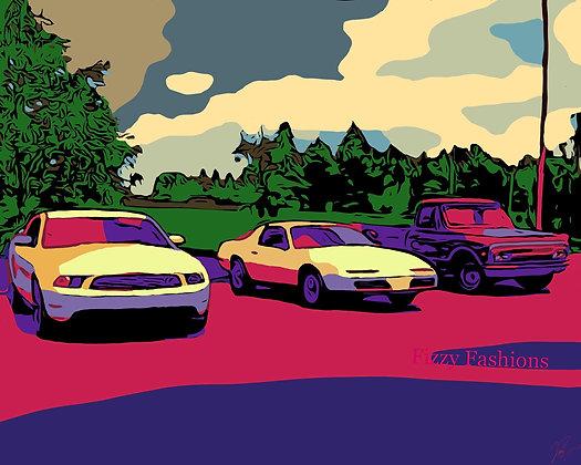 Cars and Truck Art Print