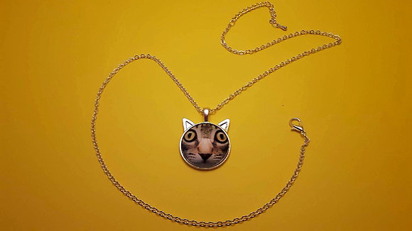 Cat with Ears Necklace