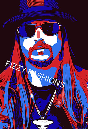 Blue and Red Kid Rock Art Print