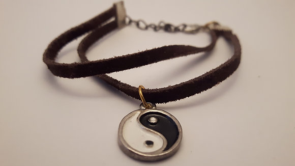 YingYang Leather Bracelet
