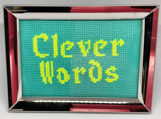 Clever Words Cross-stitch