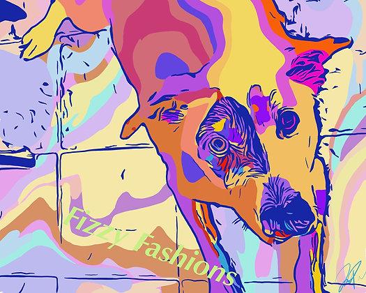 Colourful Dog Art Print