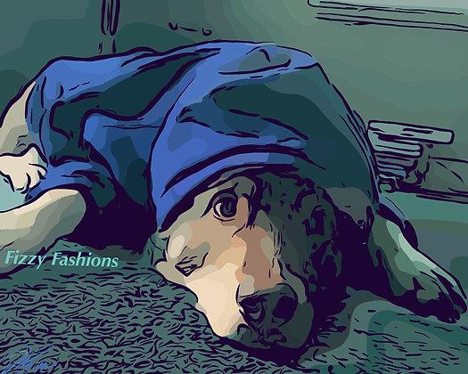 Hoodie Dog Art Print