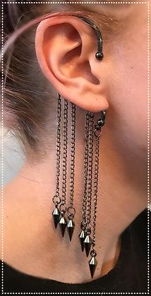 Dangling Spike Ear Cuff
