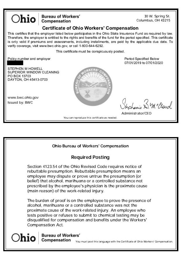 SUPERIOR W & GC WORKERS COMPENSATION 201