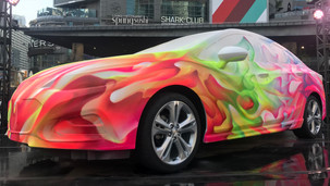 Chevy live painting Dundas Square