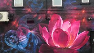 sushi restauant lotus flower detail