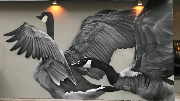 Sassafras geese detail