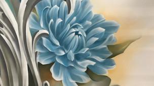 Strashin Mural Flower Detail