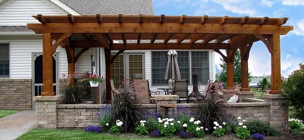 pergola and brick cost renovation build.