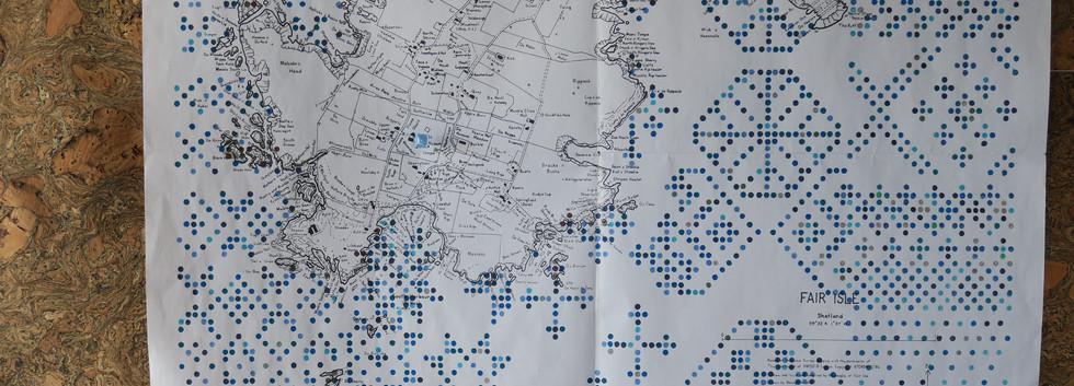 creative map of Fair Isle