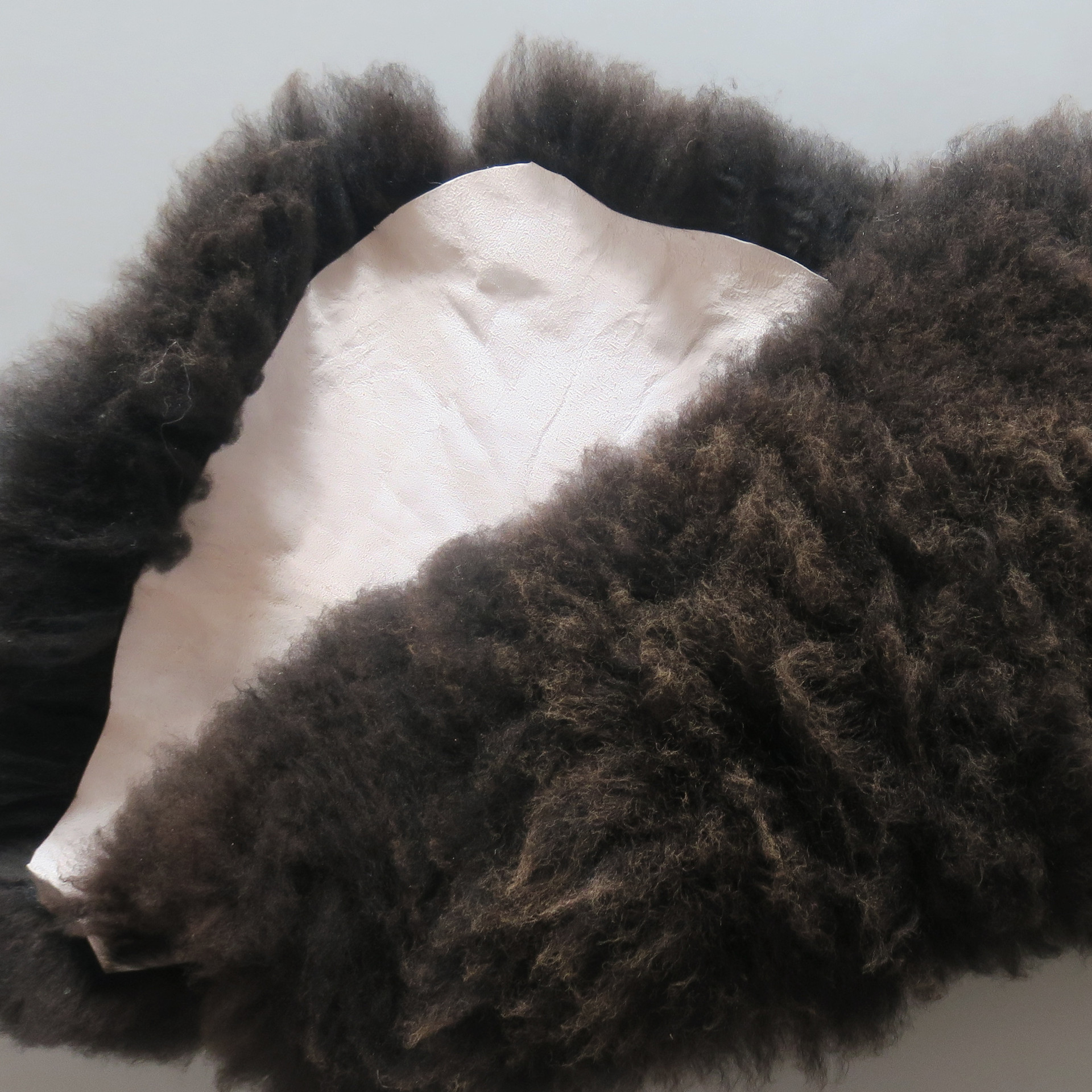 Black Sheepskin rug (both side)
