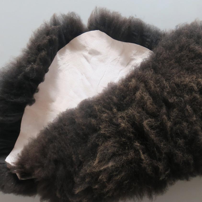 Black Sheepskin rug (both side)