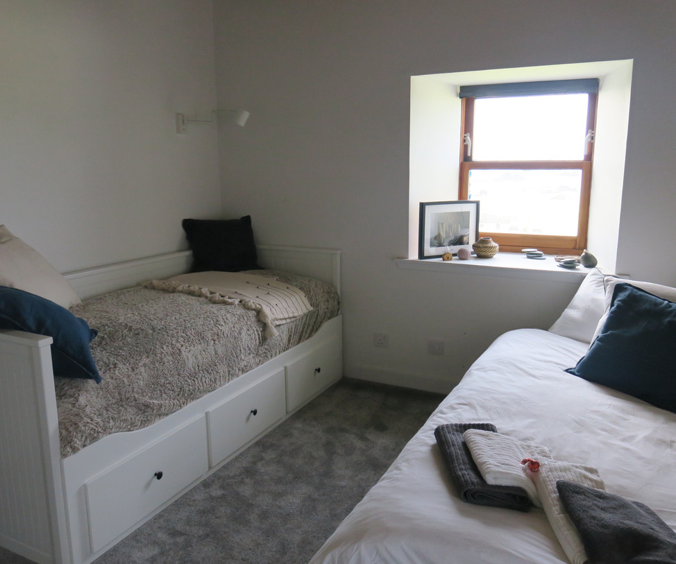 double bed and single bed as sofa