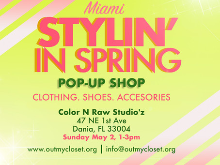 Out My Closet: Pop up shop