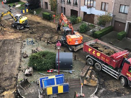 Travaux Longtin: bon début de chantier - Goede start voor de werken in de Longtinstraat