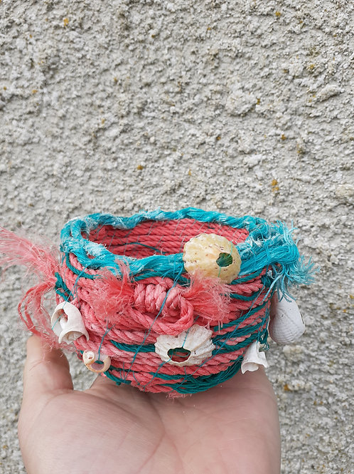Red & Green fishing rope  - Original Artwork By Emma Bagnall-Oakeley