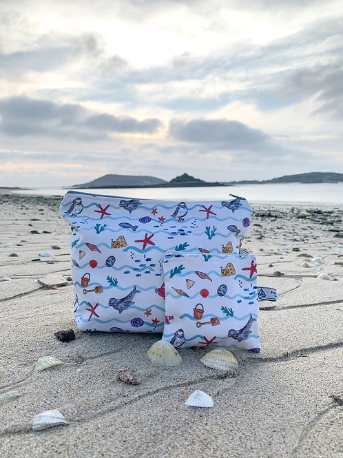 A day on Scilly' wash bag