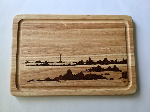 Western Rocks & Bishop Rock Lighthouse Cheeseboard - Made On St Agnes