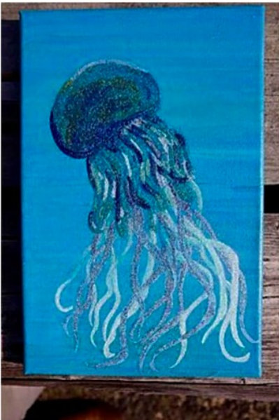 Jellyfish- Original Artwork By Maggie Dean