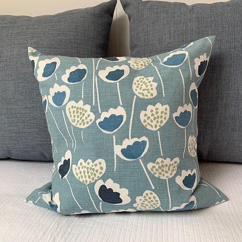 Clara Indigo Cushion Sewn On Bryher