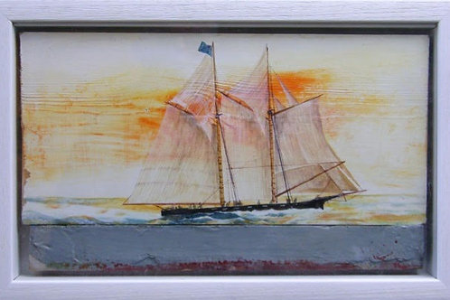 Two-Masted Cutter - Artwork By Sarah Garratt