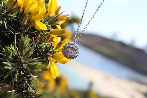 Silver Single Agapanthus Pendant and Necklace - Silver Sapling Jewellery