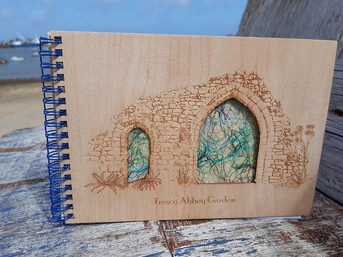 Tresco Abbey Garden Wooden Notebook