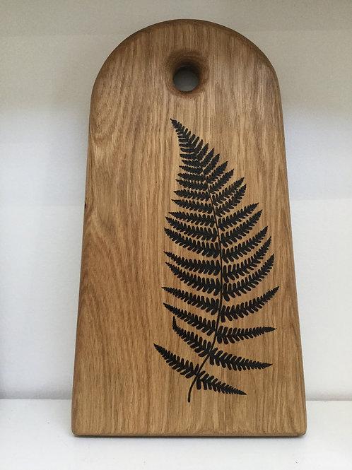 Bracken Fern handmade oak board- Made On St Agnes