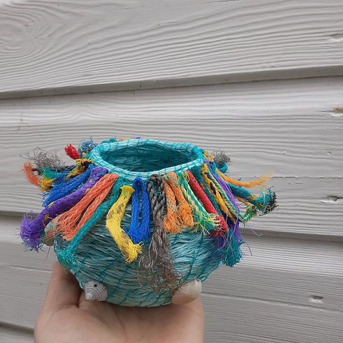 Fishing rope Tassel bowl  - Original Artwork By Emma Bagnall-Oakeley