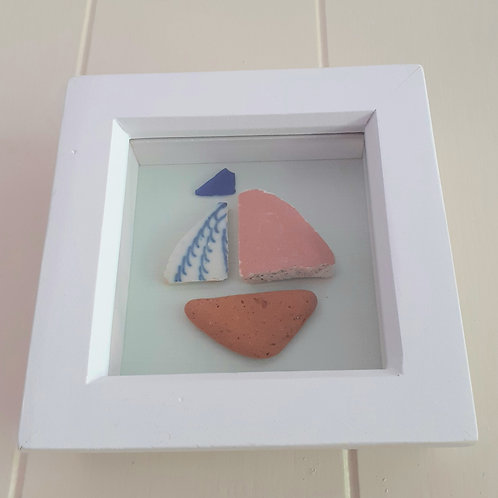 Small Seapottery Boat   - Original Artwork By Emma Bagnall-Oakeley
