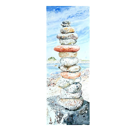 Tower of Pebbles Print - Stephen Morris