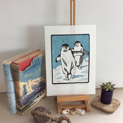 Chinstraps, Half Moon Island  Print-By Vickie Heaney
