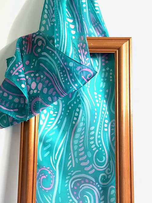 Abstract Emerald Scarf