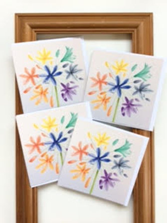 Rainbow Agapanthus cards