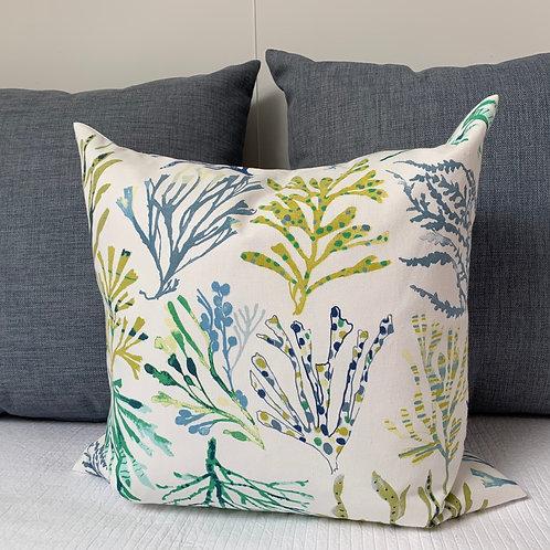 Scilly Seaweed Cushion Sewn On Bryher