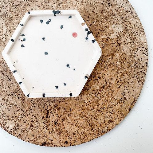 Recycled Ocean Plastic 'Nurdle' Terrazzo Hexagon Tray