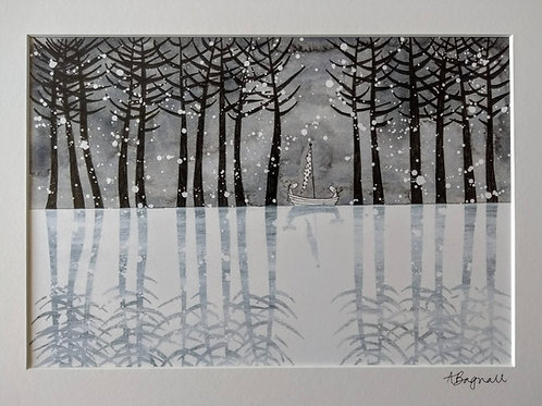 Snow - Print By Alex Bagnall