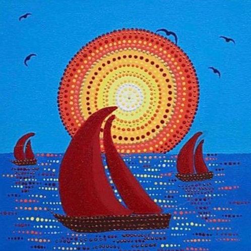 Sails - Original Artwork By Maggie Dean