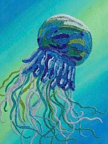 Blue Jellyfish - Original Artwork By Maggie Dean