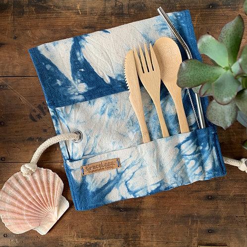 Bamboo cutlery wrap - Low Tide